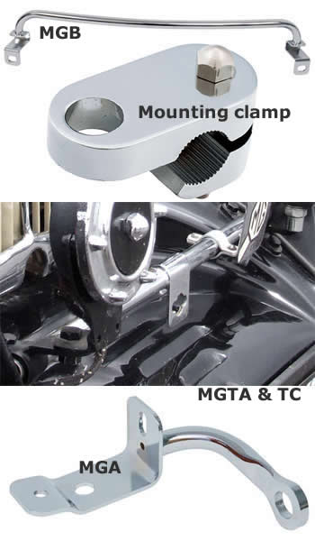 Badge and Lamp bracket bars for MG classic cars