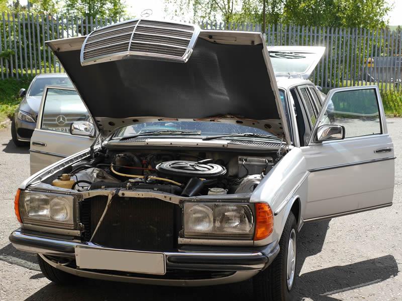Old Mercedes W123 speaker upgrade
