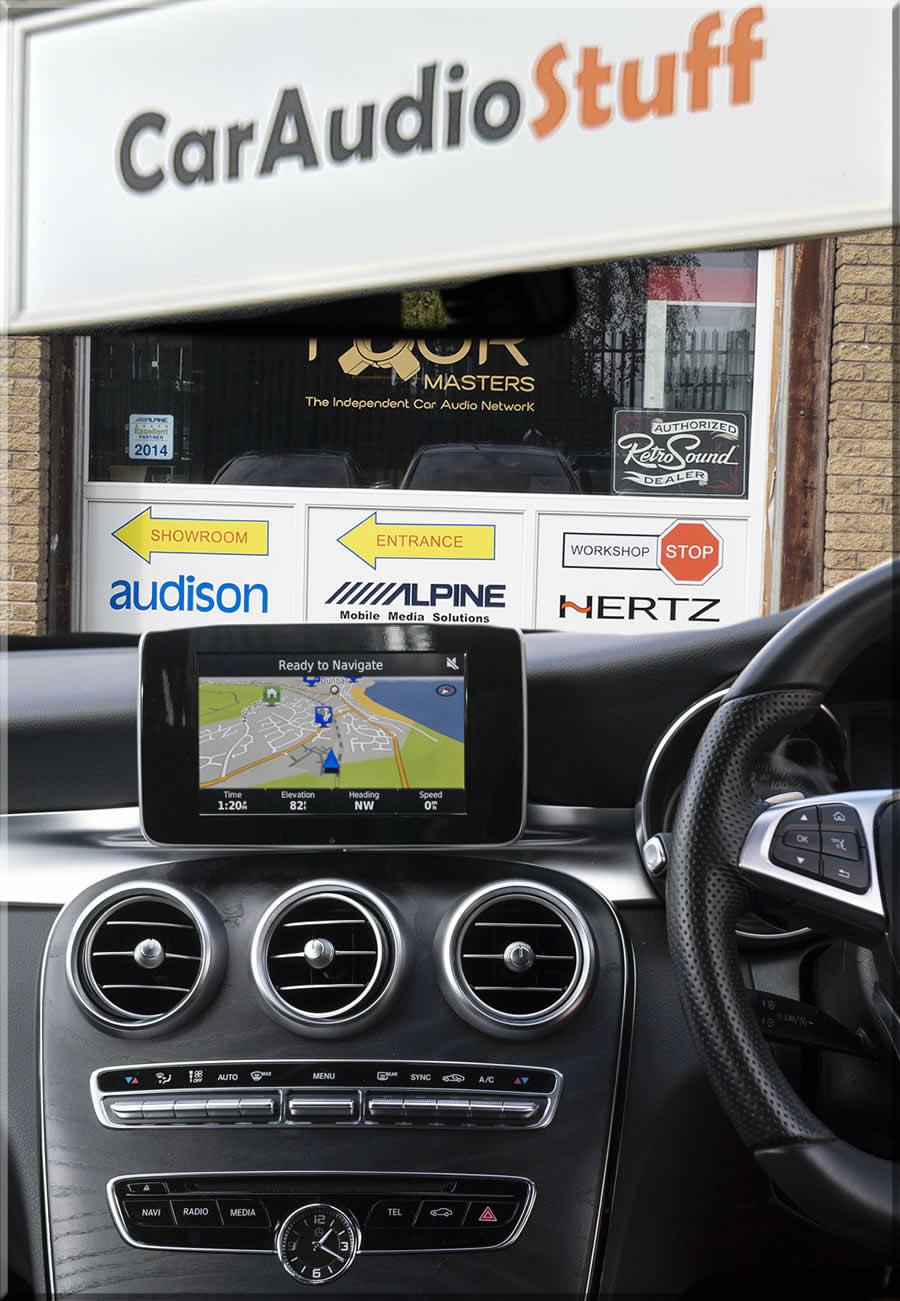 Beautiful Mercedes Dash layout