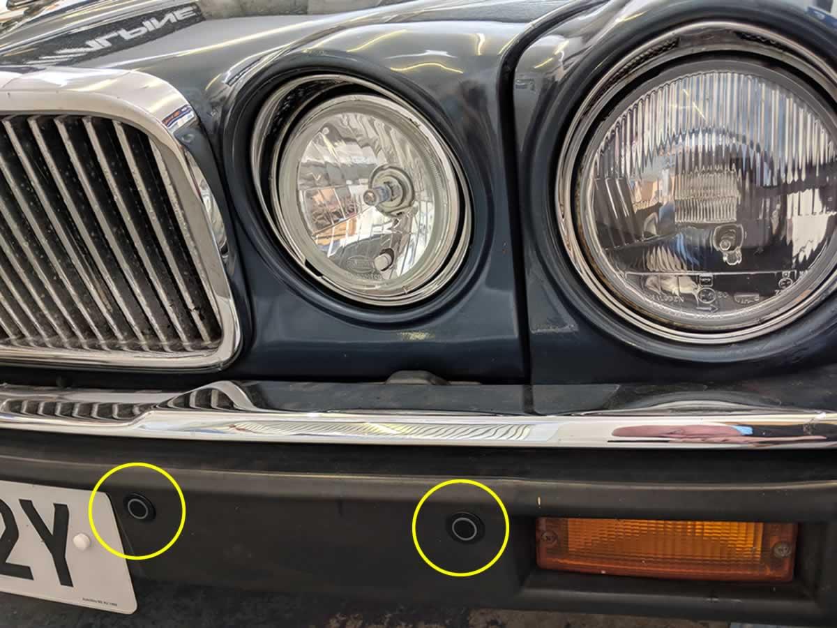 front sensors on Jag