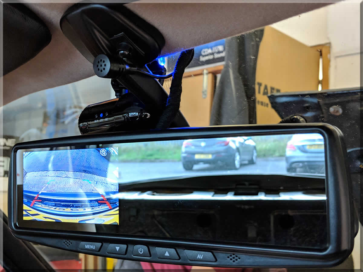 Rear View mirror with camera monitor